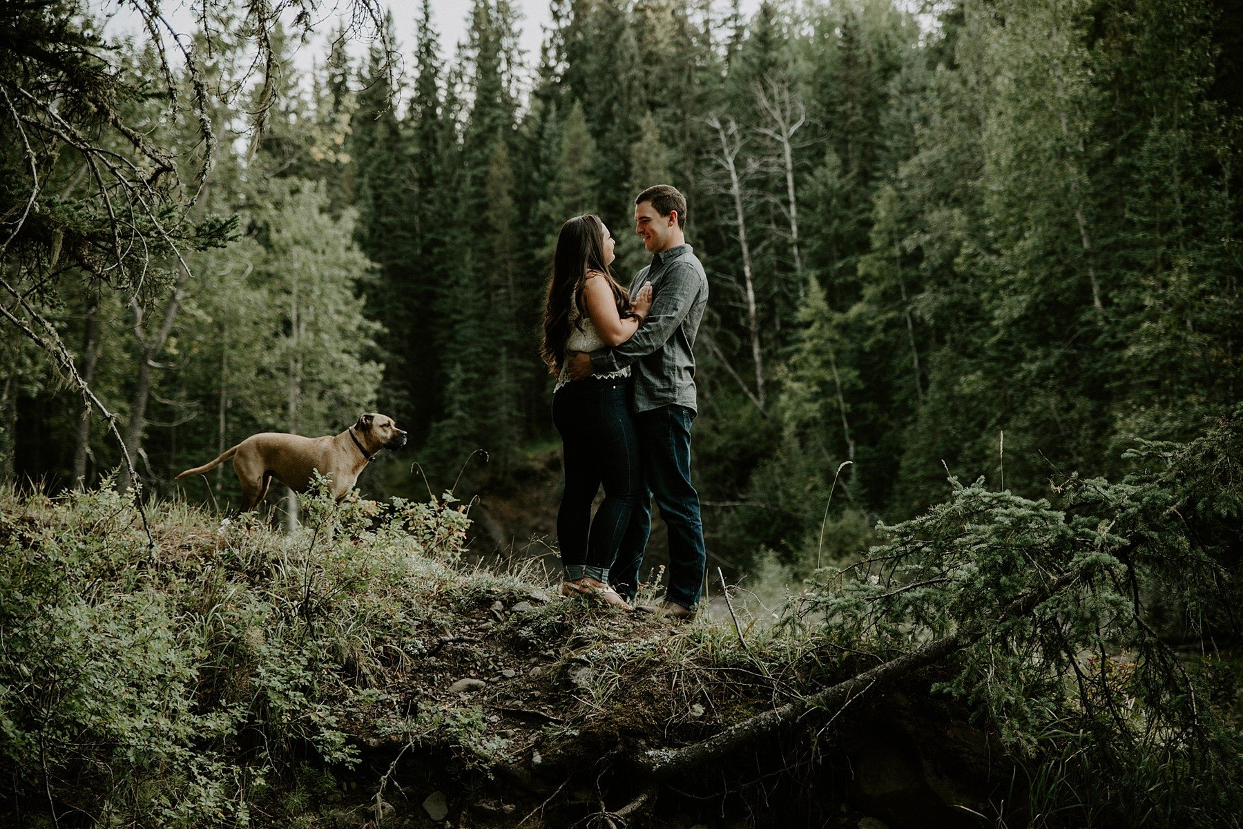 Bragg Creek Engagement Photos
