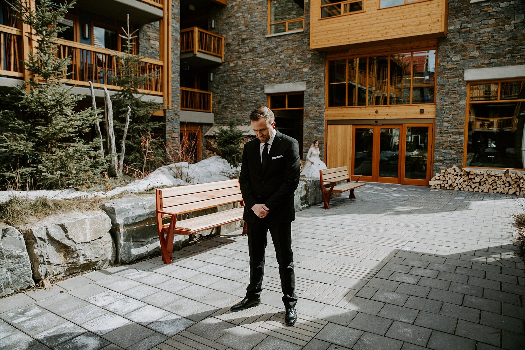 Wedding at Moose hotel in Banff