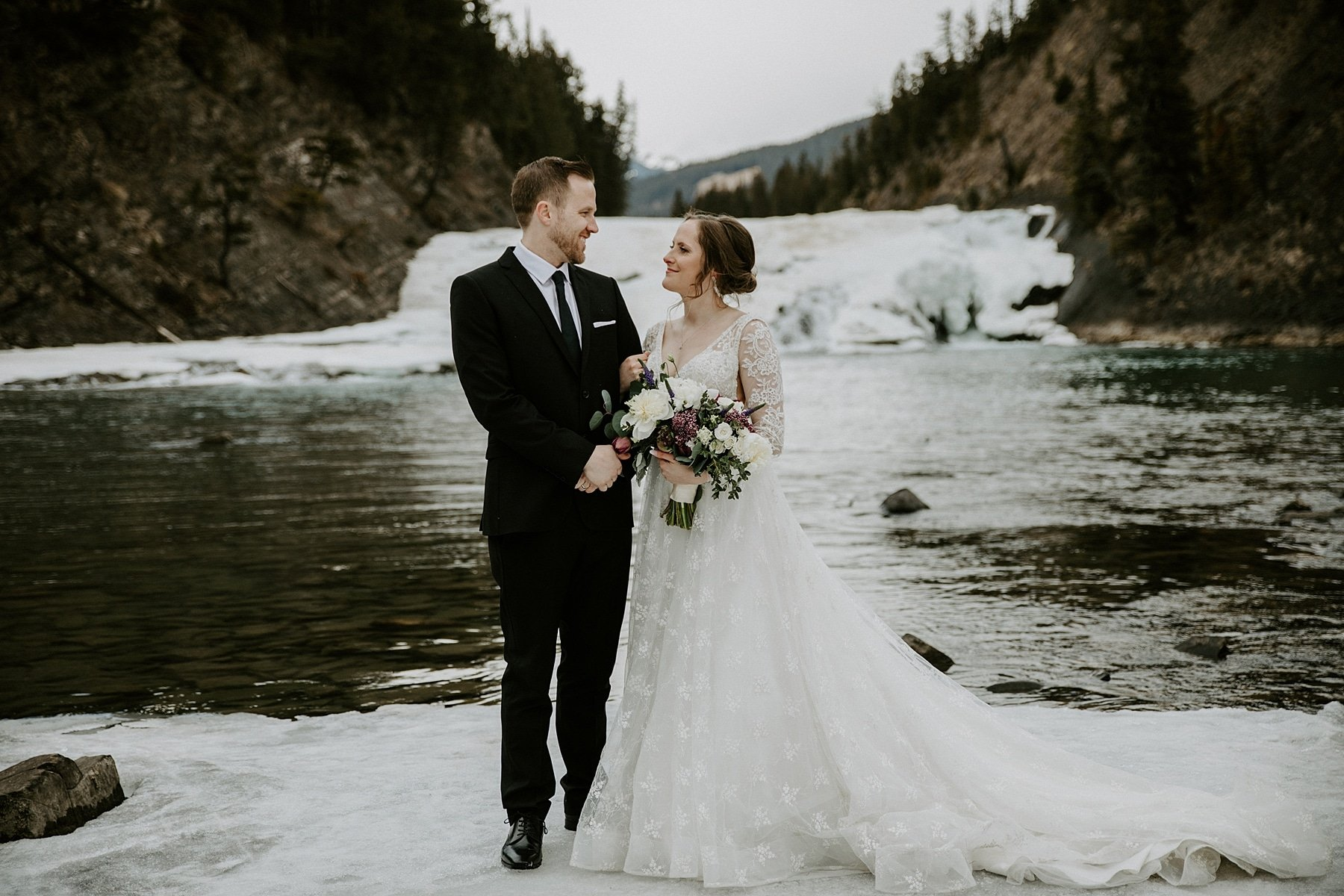 Bow Falls Wedding Banff