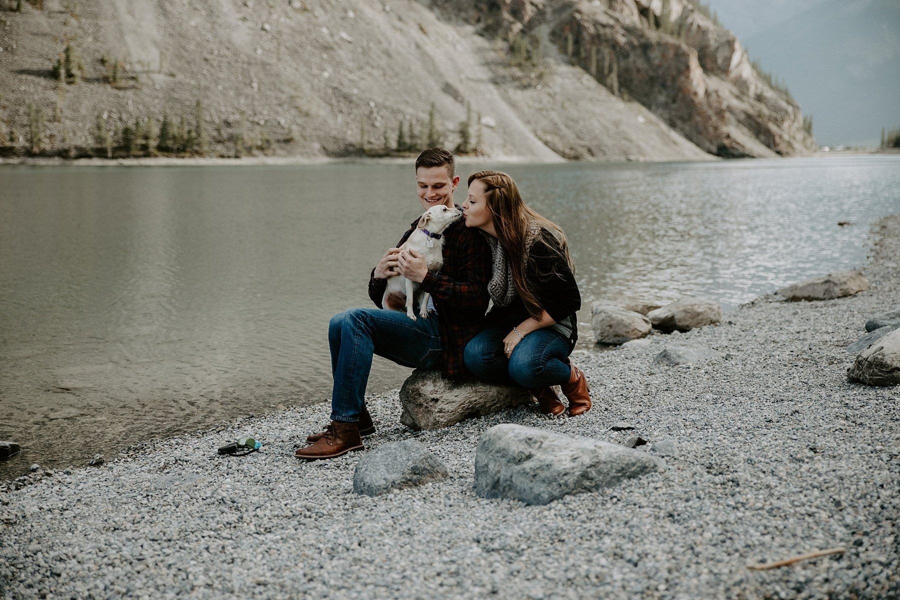 Whitemans Pond Engagement session in Canmore