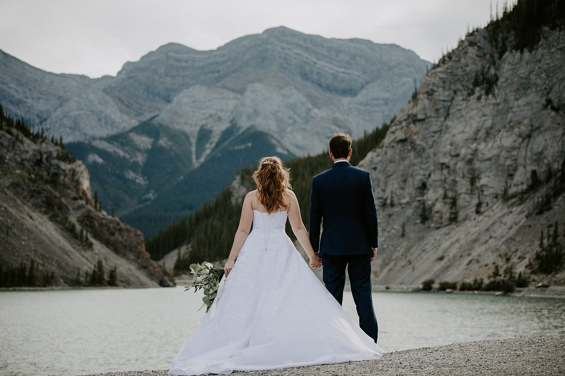 Whitemans pond wedding photos Canmore