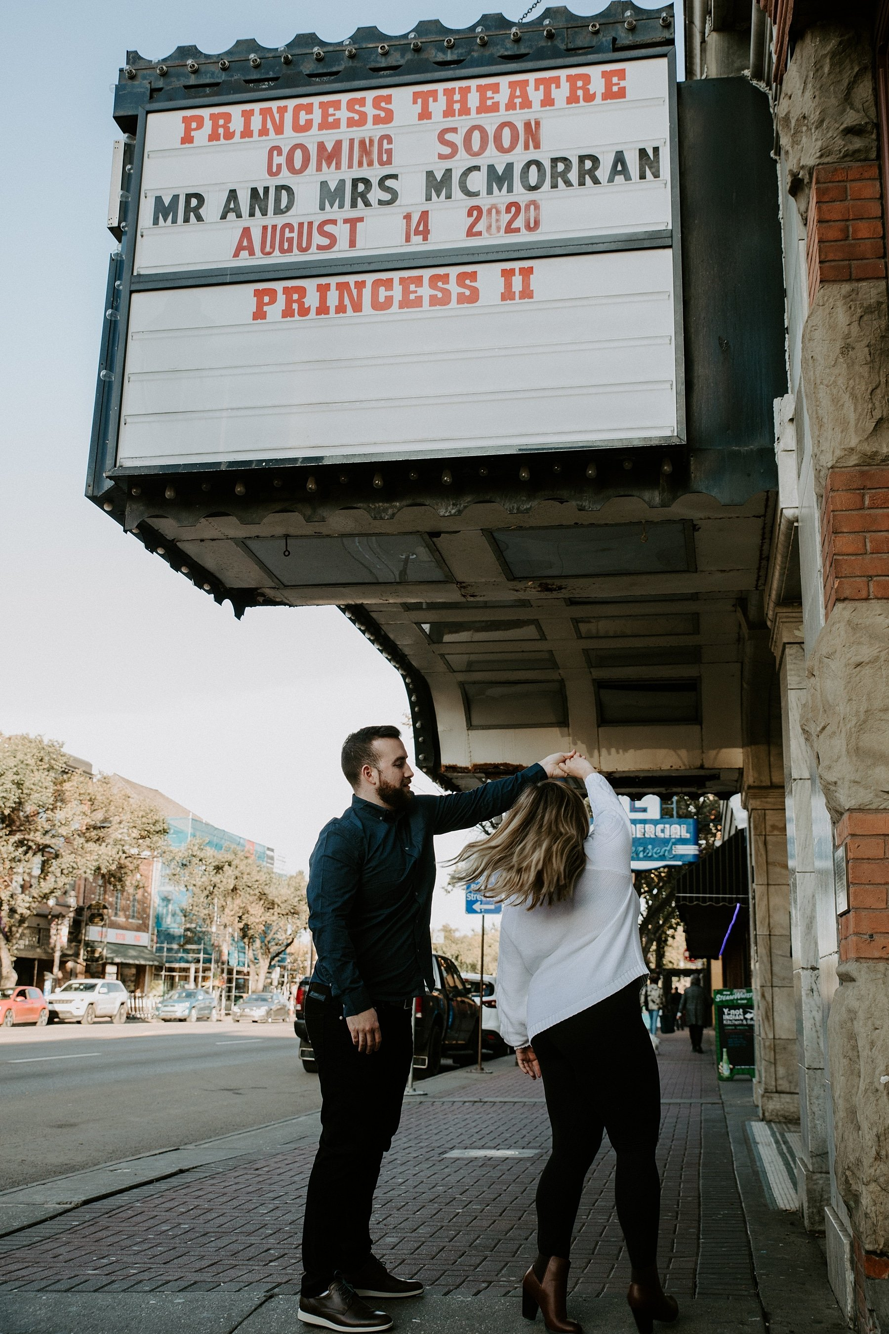 Princess Theatre Edmonton Engagement Photos