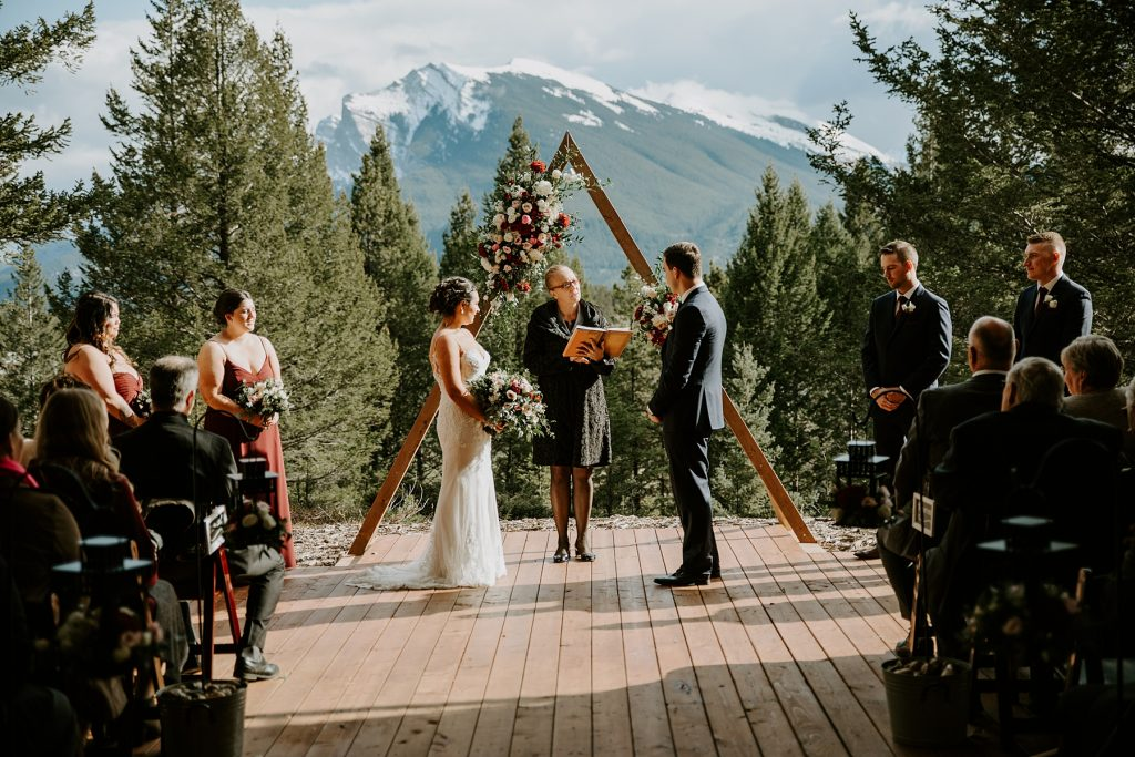 Stewart Creek Canmore Wedding Ceremony