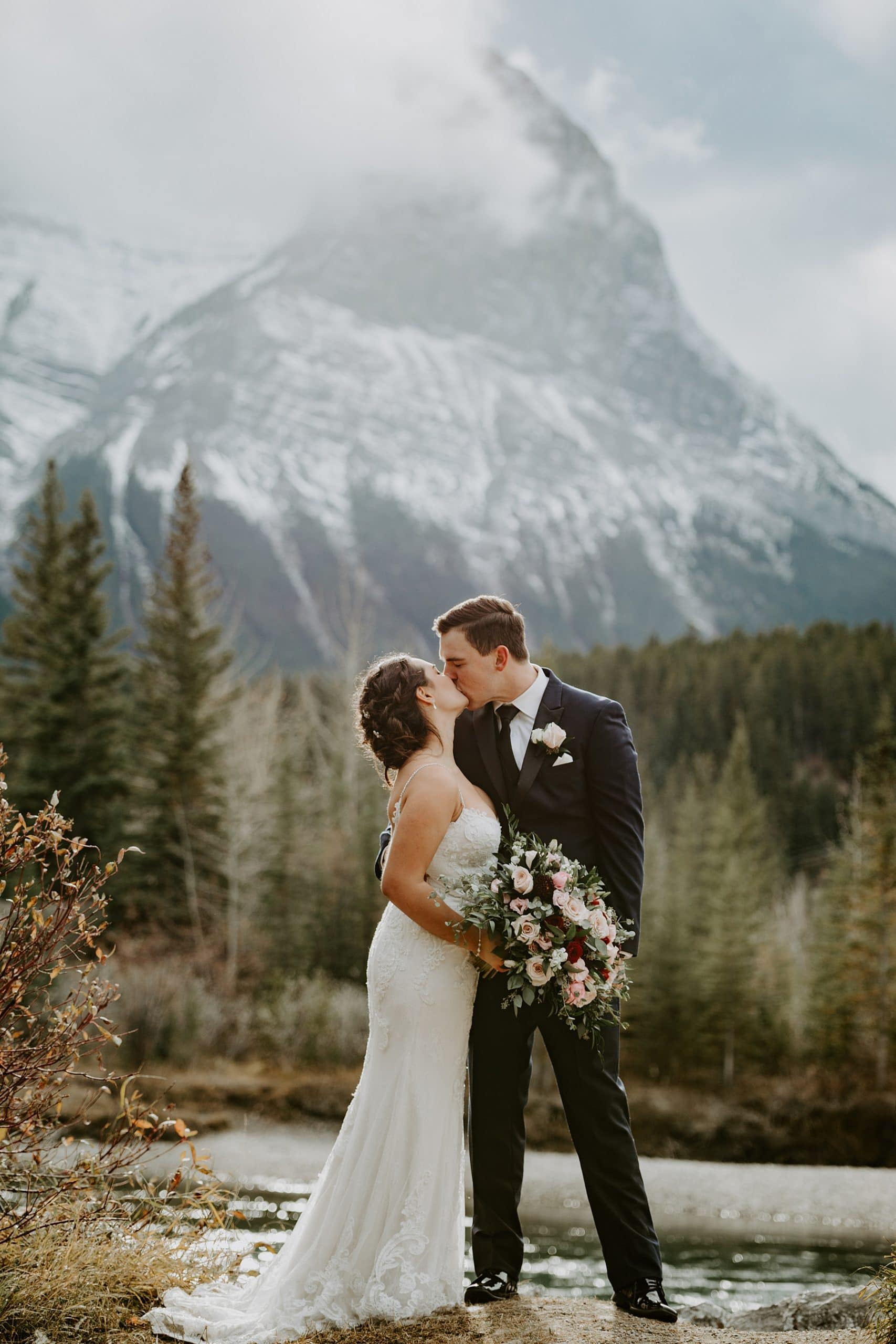 Canmore Engine Bridge Wedding Photos