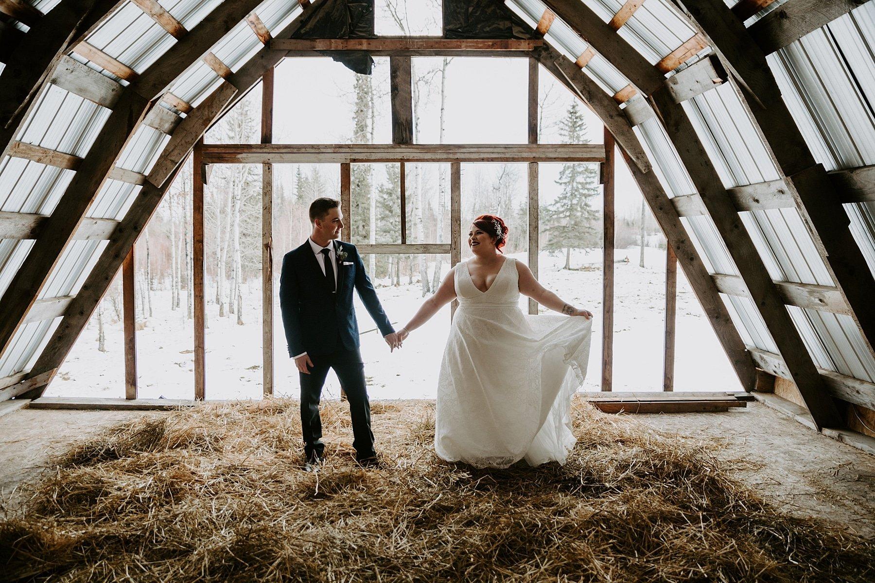 Winter wedding in Edson Alberta