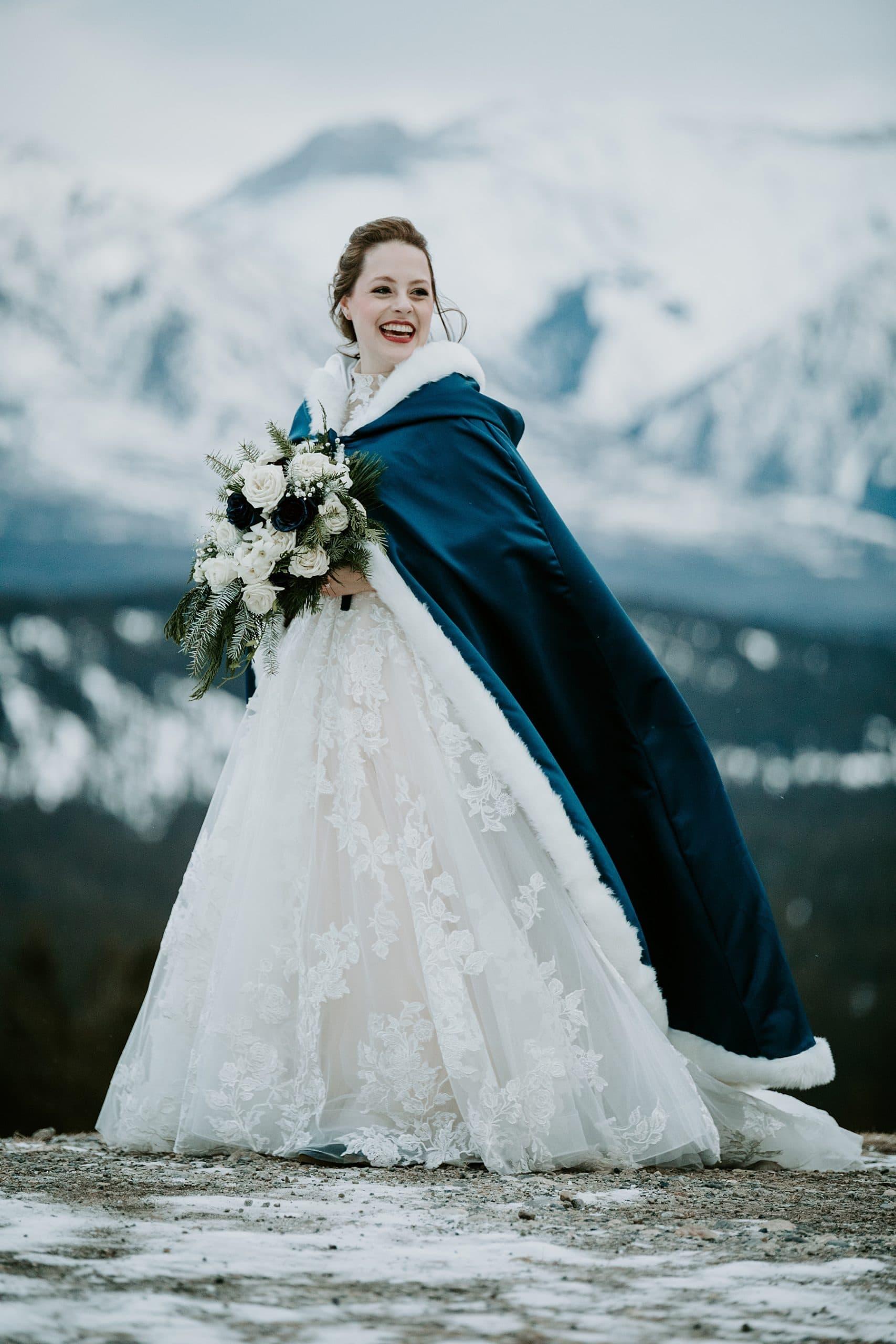 Tunnel Mountain Banff winter wedding photos