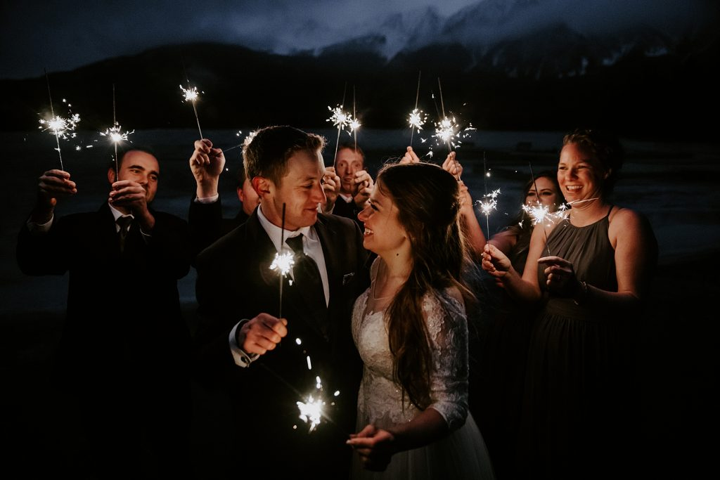 Pyramid Lake Resort Wedding in Jasper
