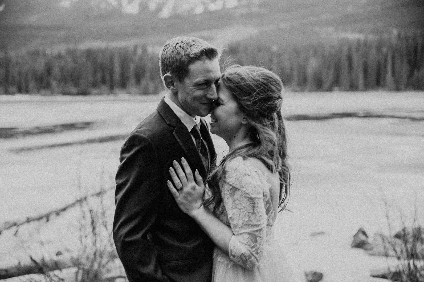 Pyramid Lake Resort Wedding in Jasper