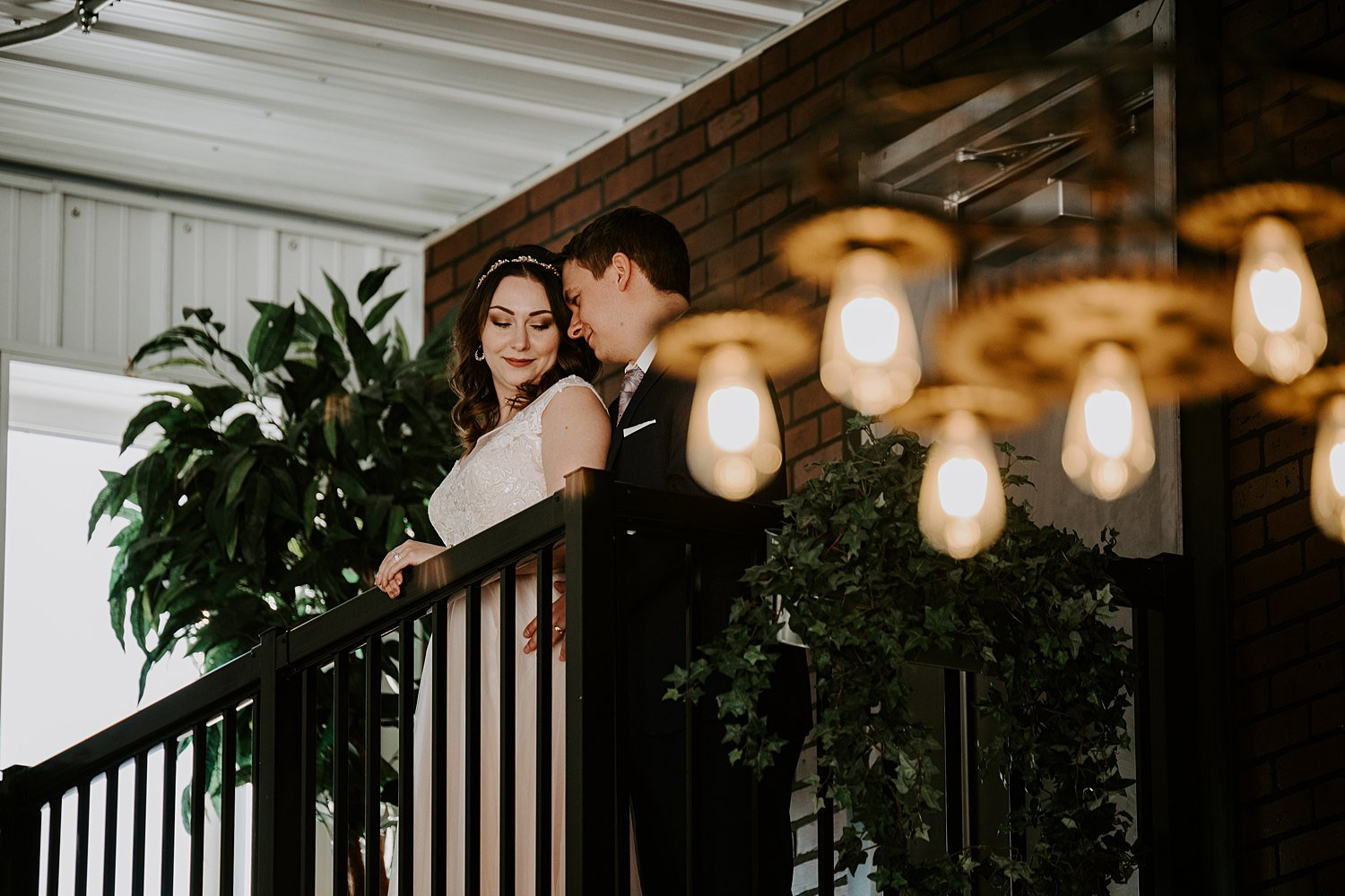 Modern industrial elopement at 52 North Venue in Central Alberta
