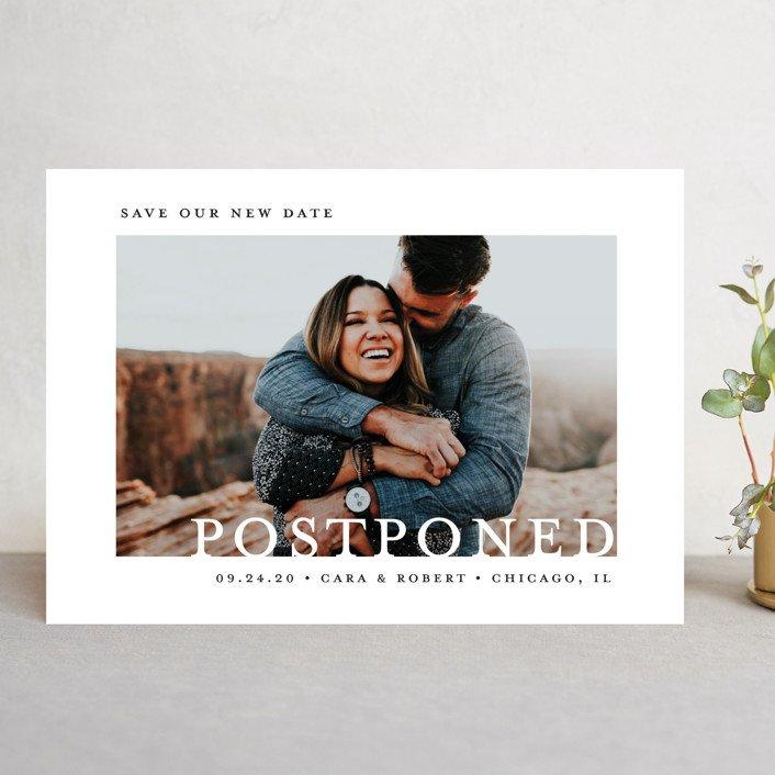 Postponed wedding announcement cards