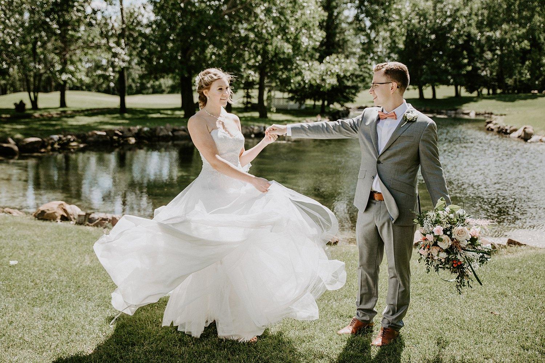 Intimate wedding at Hilltop Wedding Center in Sylvan Lake
