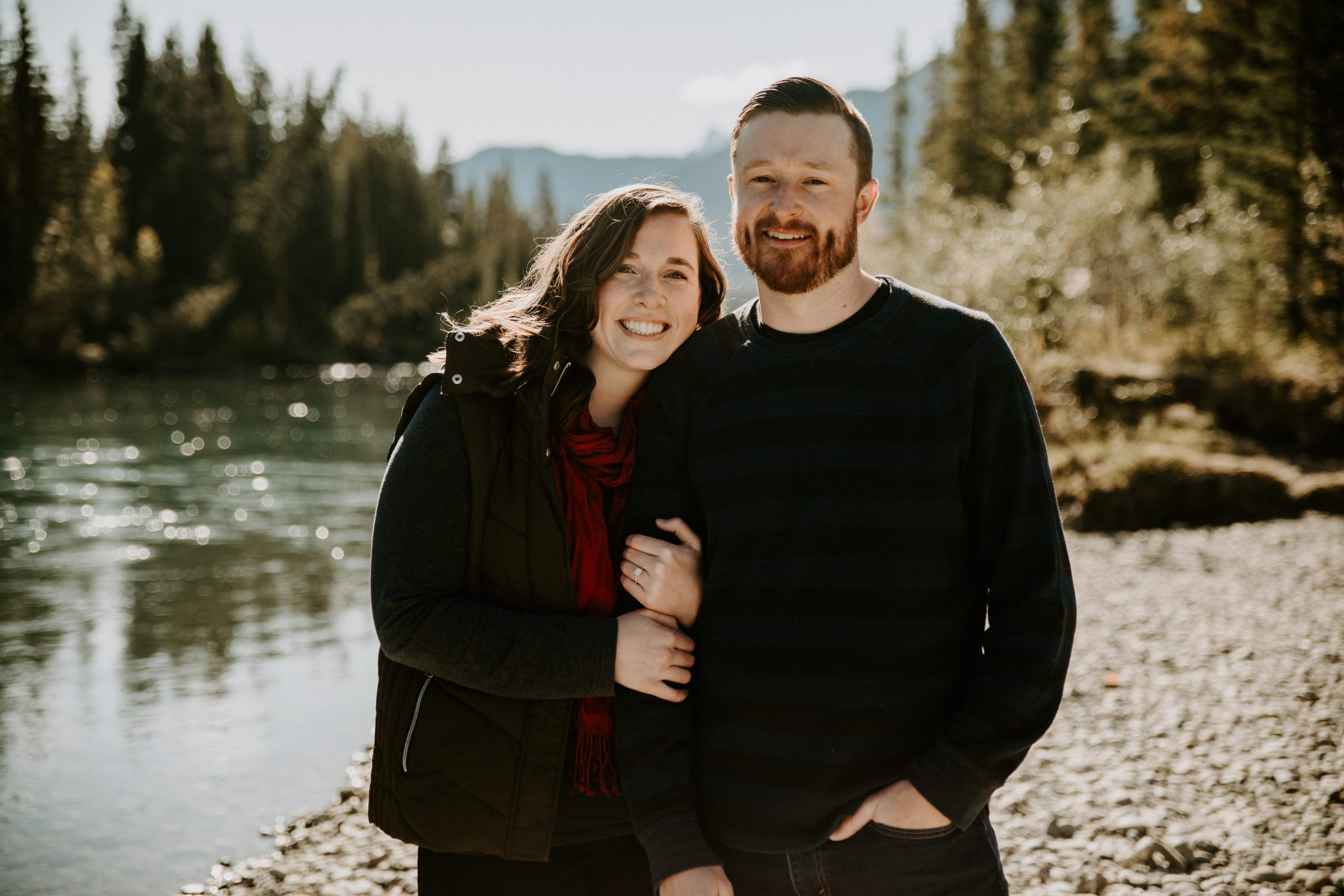 Fall engagement session in Canmore