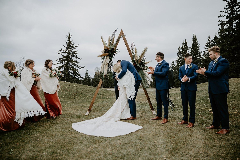 Outdoor tent wedding in Alberta